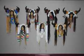 Image: Mel Kostiuk – Dacheagea (woodpecker) whose work is designed to honour the strength, wisdom and courage of the Chiefs who were present at the making of Treaty 7