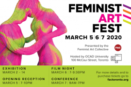 Feminist Art Fest 2020 - Registration is OPE