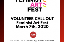 Volunteers needed for Feminist Art Festival
