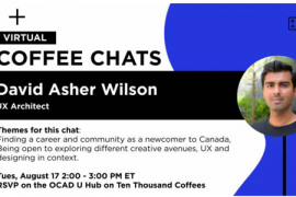 Virtual Coffee Chats with David Asher Wilson, Tuesday August 17, 2:00-3:00PM