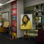 installation shot of the toronto school board art show
