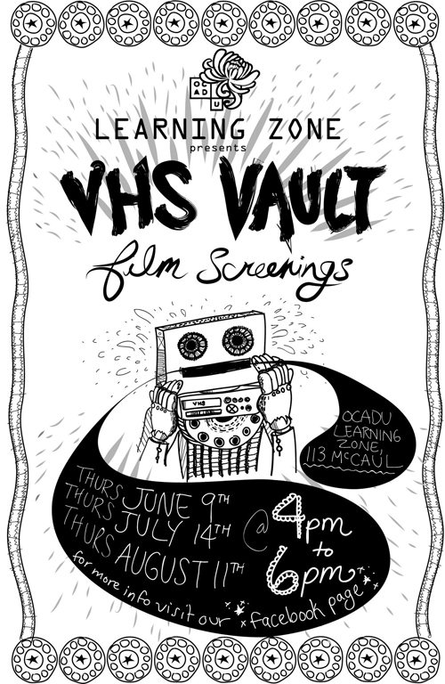 VHS vault film screenings poster