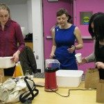 Popcorn making with Marta/volunteers