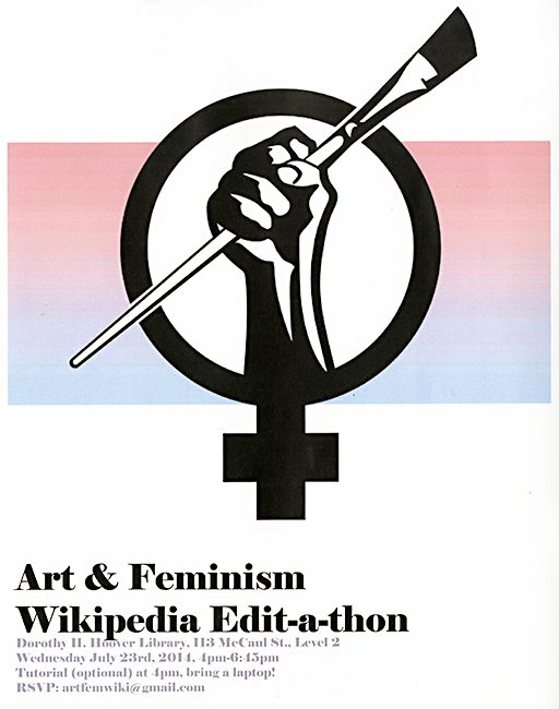 Art + Feminism Wikipedia Edit-A-Thon, OCAD U Library