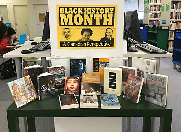 Black History Month Canada, Library display 2015