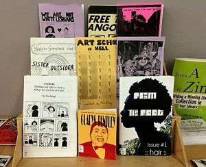 Black History Month, OCAD Zine Library display