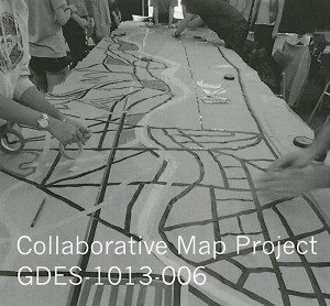 Collaborative Map Project GDES-1013-006. Olia Mishchenko's Solid & Void Drawing Form and Space