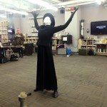 Lisa Anita Wegner performing Metamorphosis at Opening Reception Library Services Learning Zone