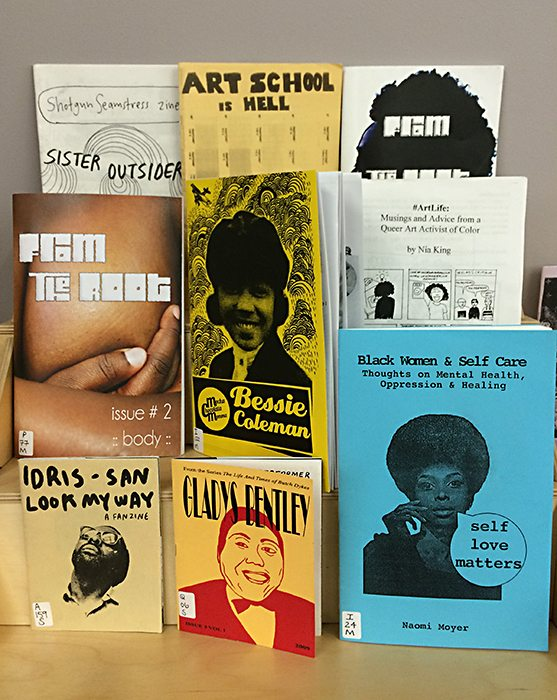 Black History Month 2016, OCAD Zine Library display