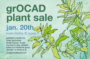 grOCAD Plant Sale, January 20, 2017