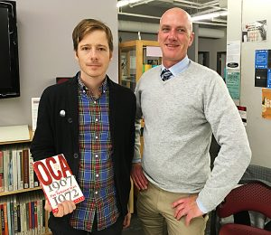Librarians Chris Landry and Daniel Payne