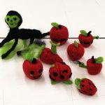Final products from Sydney Madia's Needle-Felting Workshop