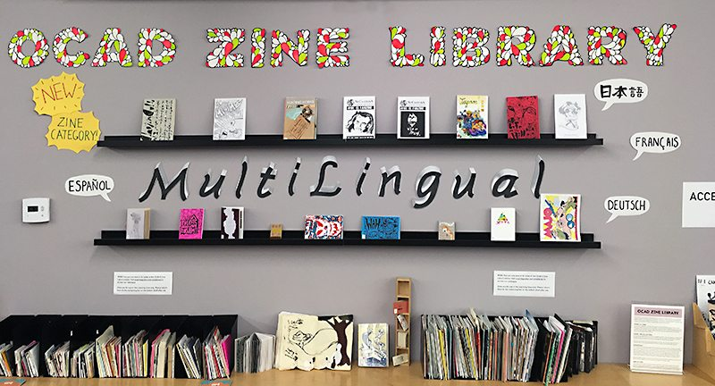 OCAD Zine Library Multilingual Zine Display