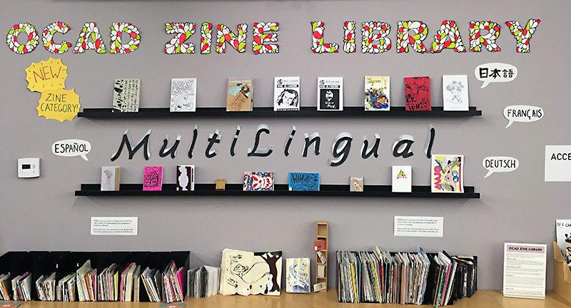 OCAD Zine Library Multilingual Zine Display