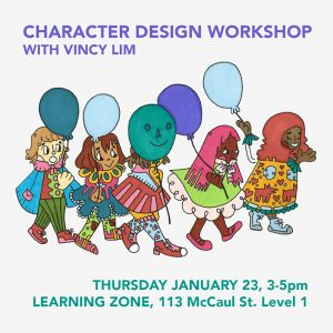 Vincy Lim Student-led workshop promotional material