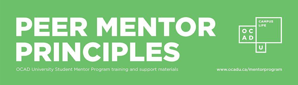 Peer Mentor Principles