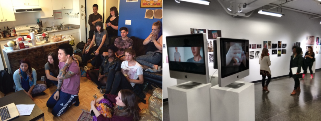Skype Meeting, Fall 2015 /Ada Slaight Gallery, OCADU, Toronto, April 2016