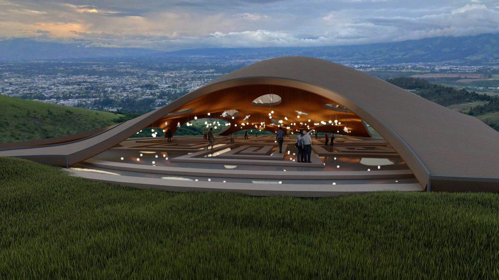 Templo De Reflejo, Andrea Veintimilla, architectural rendering , 2021