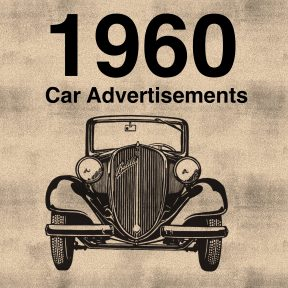 This is an example of the bold neutral look of car advertisements in the 1960's