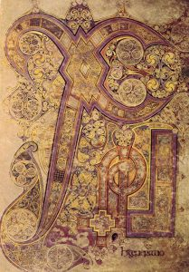 The Book of Kells, the Chi-Rho page, Meggs.282.