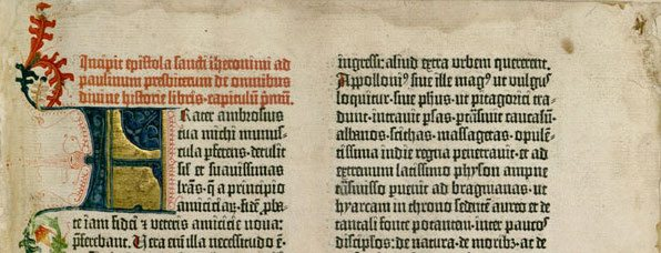 """The Gutenberg Bible. Source: """"Gutenberg Bible."""" Wikipedia. Wikimedia Foundation, Web."""