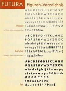 Paul Renner, Futura typefaces, 1927-30