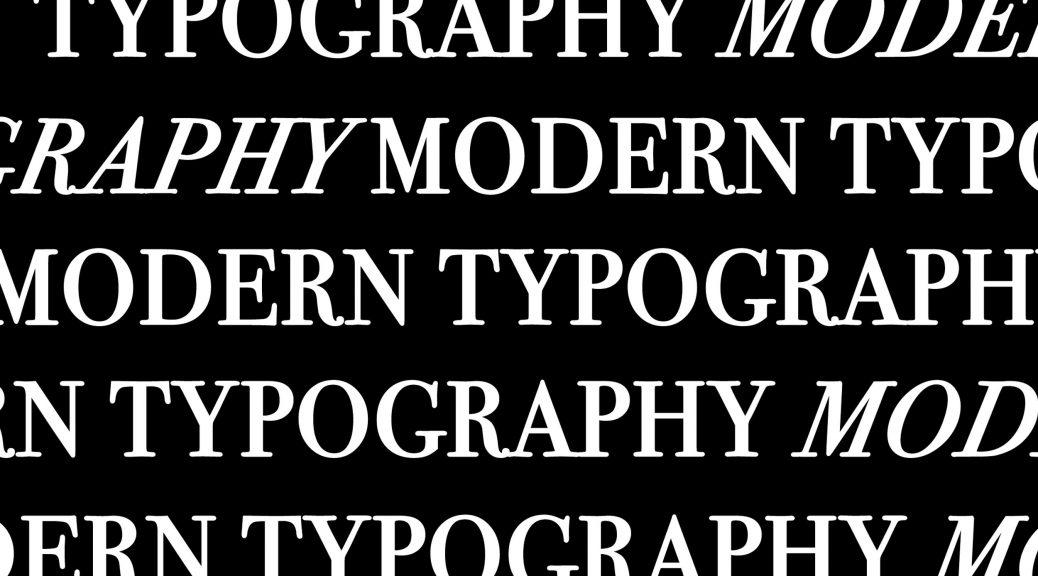 modern type, produced by Binhwa, idea from Raquel