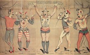 Multicoloured woodcut poster, Joseph Morse, 1856.