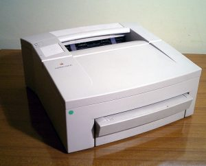 Apple LaserWriter 4-600 PS Source: commons.wikimedia.org Image is in public domain Copyright image belongs to: All About Apple museum official website (http://www.allaboutapple.com/)
