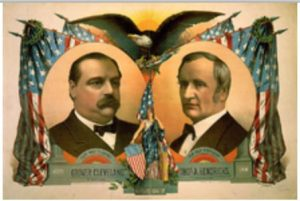 S.S. Frizzal and J.H. Bufford's Sons poster for the Cleveland and Hendricks presidential campaign, 1884. Meggs image 9-52