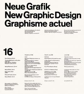 July 1963 issue of Neue Grafik, https://commons.wikimedia.org/wiki/File:Neue_Grafik_July_1963.jpg