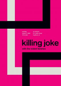 Mike Joyce (Swissted), Killing Joke poster, 1982