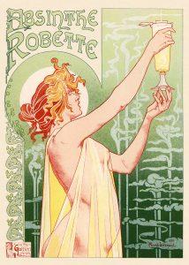 privat-livemonts-absinthe-robette-art-nouveau-vintage-poster-1896