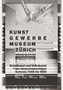Wolfgang Weingart, Schreibkunst (Writing Art), 1981