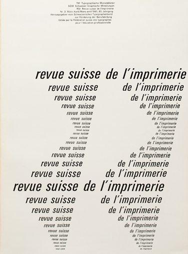 Emile Ruder, Typographie Monatsblatter March 1961. Cover. Museum für Gestaltung, Zurich
