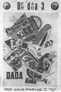 John Heartfield, Der Dada, 1920. Collage.