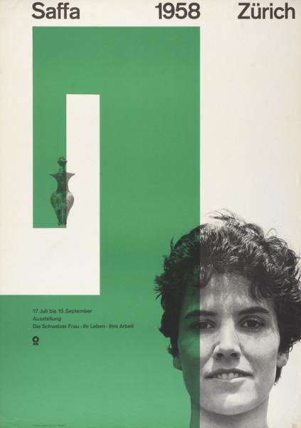 Nelly Rudin, Saffa, 1958. Poster. Museum für Gestaltung, Zurich