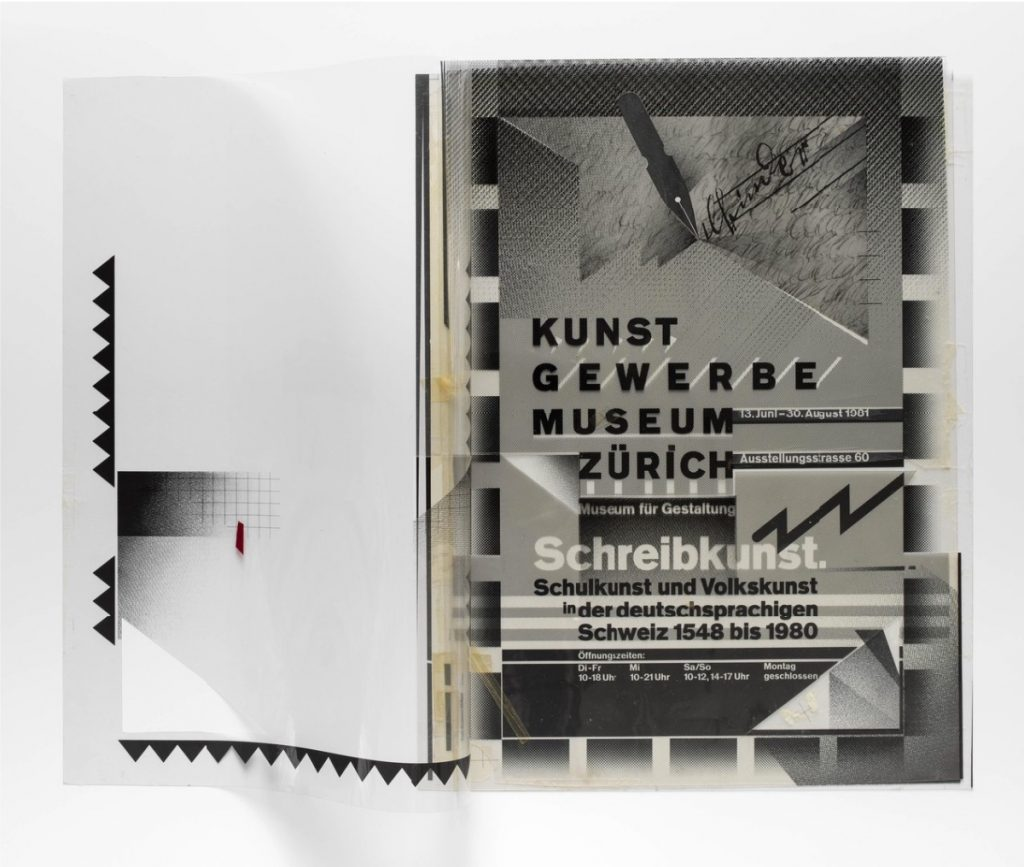 Schreibkunst photographed to show the transparent film