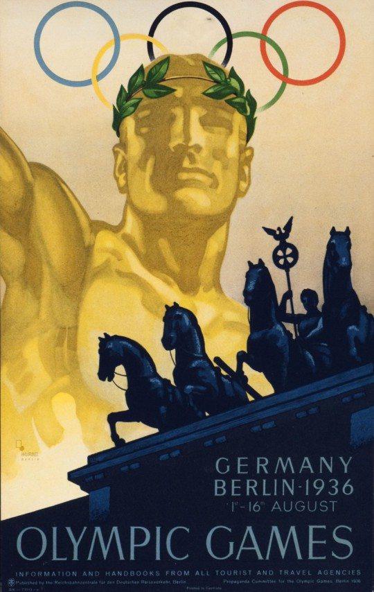 Garmisch-Partenkirchen Winter Olympics 1936. (Courtesy of International Poster Gallery)