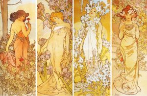 """The Flowers"", Alphonse Mucha 1897"