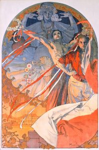 """Poster for the 8th Sokol festival Prague 1926"", Alphonse Mucha 1925"