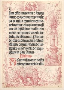 Gebetbuch (prayer book) of Maximillian I, 1514. Printed by Johann Schönsperger with pen and ink drawings by Albrecht Dürer