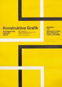 Hans Neuburg, Konstruktive Grafik poster, 1958