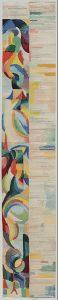 Sonia Delaunay, Blaise Cendrars, 1913, La Prose du Transsibérien et de la petite Jehanne de France, illustrated book with watercolor applied through pochoir and relief print on paper, 200 x 35.6 cm, Princeton University Art Museum