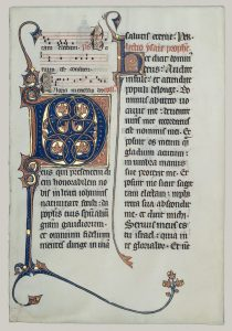 Manuscript page from a Missal, Beauvais, France, c. 1290. Tempera and gold on parchment.