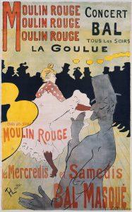 Henri de Toulouse-Lautrec, poster, Moulin Rouge: La Goulue, 1981, Lithograph printed in four colours. Three sheets of wove paper, (190 x 116.5 cm)