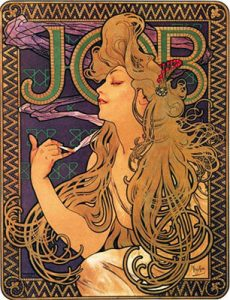 """JOB"", Alphonse Mucha 1896"