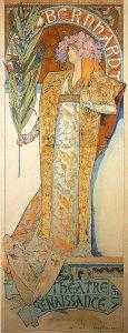 """Poster for """"Gismonda"""", Alphonse Mucha 1894"""
