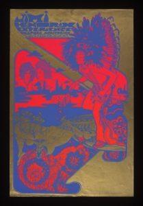 S.23B-1978 Poster Jimi Hendrix Experience, Fillmore Auditorium; Poster for the Jimi Hendrix Experience at Fillmore Auditorium. Hapshash and the Coloured Coat London 1967 Screen print on paper
