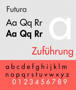 Futura (typeface) Specimen.